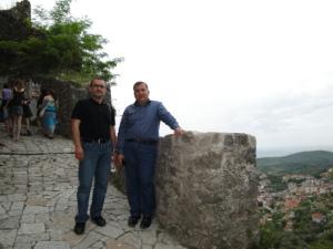 With Prof. Mehmet in Kruja