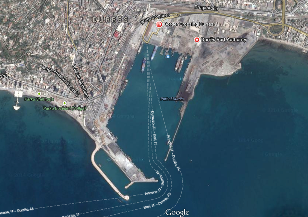 Structural assessment of Durres Port quay 5th and 6th under crane load of Gottwalt G-HMK 7408 and Terex 5150, Tirana, Albania, June, 2014.