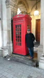 traditional british red telephone boxes