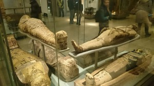 Mummified bodies from ancient eygpt in british museum